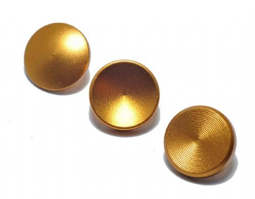 High Quality Shutter Button Soft Release Set Metal Flat/Concave/Convex Gold